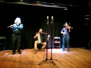 Parmela Attariwala (violin) + Branko Dzinovic (accordian) + Robert Aitken (flute)