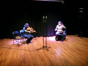 Parmela Attariwala (violin) + Shahriyar Jamshidi (kamanche)