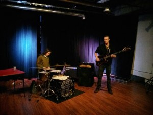 Aalborggroup: Maxwell Boecker (bass) and John Gregg (percussion)